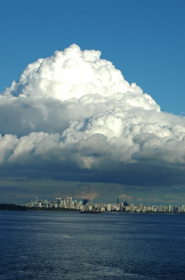 All, British Columbia, Clouds, Stanley park, Outer harbour, Canada, Vancouver